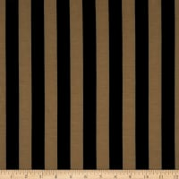 Fabric Merchants Ponte de Roma Stretch Knit 1 Inch Stripe Black/Taupe