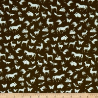 Telio Pebble Crepe Character Print Forest Green