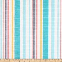 Cotton Yarndye Stripe Aqua/Mint