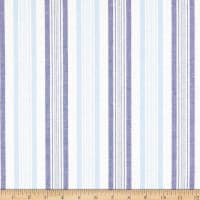 Cotton Chambray Stripe Blue/Royal