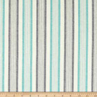Cotton Chambray Stripe Green/Navy