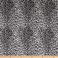 Rayon Challis Animal Skin Cheetah Black/White
