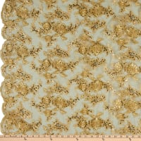 Sequin Embroidery Lace Gold