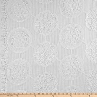 Circle Guipure Lace White/White