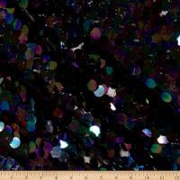 Fish Scale Sequins Mermaid Black
