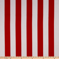 "58"" Striped Canvas White/Red"