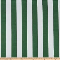 "58"" Striped Canvas White/Green"