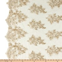 Camilla Sequin Lace Ivory/Gold