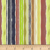 Dear Stella Digital Woodland Fairytale Woodland Stripe Multi