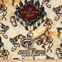Harry Potter Marauder's Map Fleece Tan