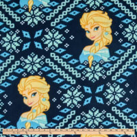 Frozen Alpine Wonder Elsa Fair Isle Fleece Navy