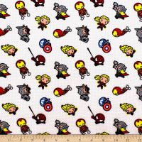 Marvel Kawaii Action Toss Bamboo Rayon Flannel White