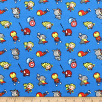 Marvel Kawaii Action Toss Bamboo Rayon Flannel Blue