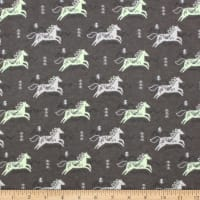Jumping Horses Flannel Taupe