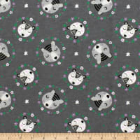 Bear Wreaths Flannel Grey