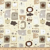 Big Bear Cuddles Flannel Cream