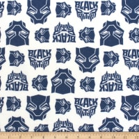 Marvel Black Panther Logo Toss Flannel Blue