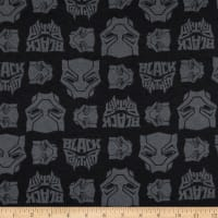 Marvel Black Panther Logo Toss Flannel Black