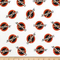 The Big Bang Theory Bazinga Flannel White