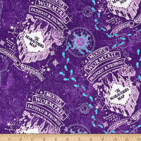 Harry Potter Compass Rose Marauder's Map Flannel Purple