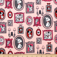 101 Dalmations Family Frames Flannel Pink