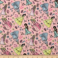 Disney Charming Disney Princesses Flannel Pink