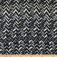 Splendid Apparel Rayon Challis Abstract Chevron Navy/Black