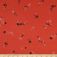 Splendid Apparel Rayon Voile Ditsy Floral Coral