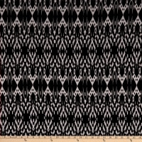 Splendid Apparel Rayon Spandex Stretch Jersey Knit Abstract Ikat Black/Natural