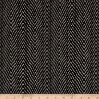 Fabric Merchants Splendid Apparel Rayon Spandex Slub Stretch Jersey Knit Chevron Black/Taupe