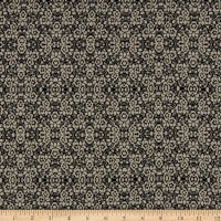 Rayon Challis Splendid Mini Floral Black/White
