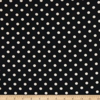 Bubble Crepe Polka Dot Black/Ivory
