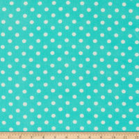 Bubble Crepe Polka Dot Mint/White