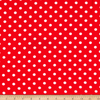 Bubble Crepe Polka Dot Red/White