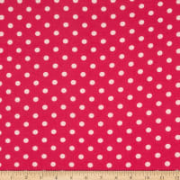 Bubble Crepe Polka Dot Hot Pink/Ivory