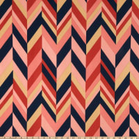 Liverpool Double Knit Abstract Chevron Mauve/Navy