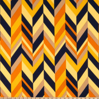 Liverpool Double Knit Abstract Chevron Mustard/Navy
