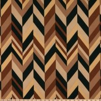 Liverpool Double Stretch Knit Abstract Chevron Brown