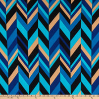 Liverpool Double Knit Abstract Chevron Blue