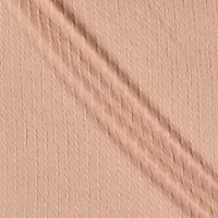Telio Milo Novelty Stretch Cable Knit Blush