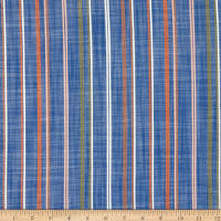 Telio Deauville Rayon Jacquard Stripe Chambray Orange