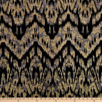 Telio Modena Foil Metallic Floral Knit Black Gold