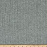 Telio Bamboo Rayon Rib Stretch Knit Heather Grey