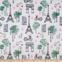 Exclusive Shannon Studio Digital Minky Cuddle Paris Snow