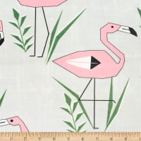 Exclusive Shannon Premier Prints Digital Minky Cuddle Flamingo Cloud