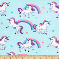 Exclusive Shannon Premier Prints Digital Minky Cuddle Magical Aqua