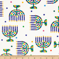Exclusive Shannon Studio Digital Minky Cuddle Menorah Multi