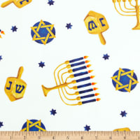 Exclusive Shannon Studio Digital Minky Cuddle Hanukkah Electric