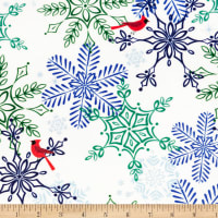 Exclusive Shannon Studio Digital Minky Cuddle Snow Cardinals Multi