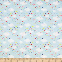 Exclusive Shannon Studio Digital Minky Cuddle Clouds Aqua